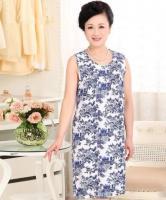 Платье из штапеля для полных _1