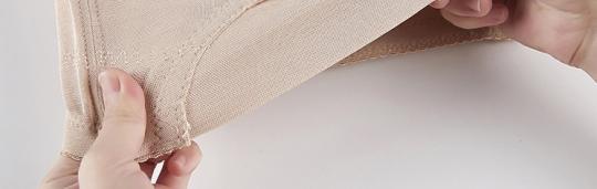 Корсет утягивающий бесшовный дышащий, бежевый цвет, высота 34 см.