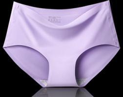 Бесшовные трусики мягкие с лазерной обработкой швов фиолетовый