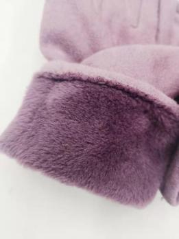 Перчатки женские теплые зимние, для сенсорных экранов, темно-синий цвет