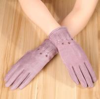 Перчатки женские теплые зимние, для сенсорных экранов, фиолетовый цвет