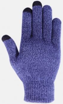 Перчатки утепленные зимние, с сенсорным покрытием, фиолетово-белые