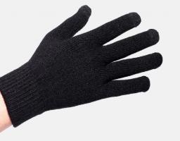 Перчатки утепленные зимние, с сенсорным покрытием, серо-белые_4