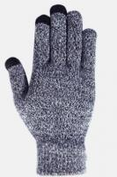 Перчатки утепленные зимние, с сенсорным покрытием, серо-белые_0