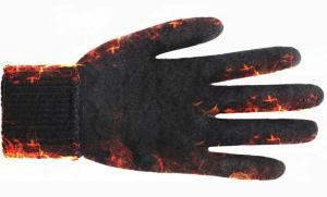 Перчатки утепленные зимние, с сенсорным покрытием, серо-белые_2
