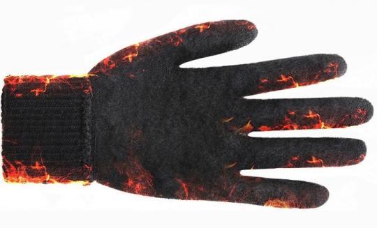 Перчатки утепленные зимние, с сенсорным покрытием, серо-белые