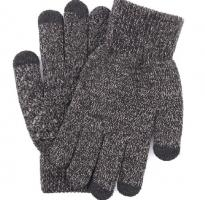 Перчатки утепленные зимние, с сенсорным покрытием, темно-серый меланж_7