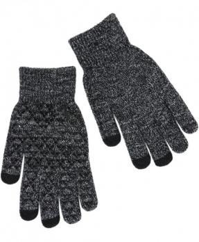 Перчатки утепленные зимние, с сенсорным покрытием, темно-серый меланж